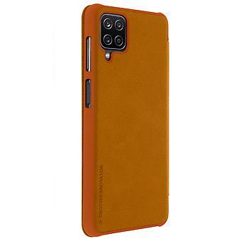 Nillkin Qin Series flip wallet case, Samsung Galaxy A12- brown