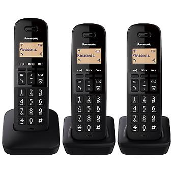 Panasonic KXTGB613EB שלישיית טלפון אלחוטי דיגיטלי