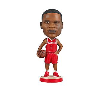 Houston Rockets Russell Westbrook Bobblehead Action Figure Statue Basketball Doll