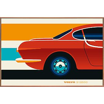 JUNIQE Print -  Volvo P1800 Back - Autos Poster in Bunt