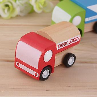 Καυτά εκπαιδευτικά παιχνίδια αυτοκινήτων παιδιών μίνι ξύλινο λεωφορείο οχημάτων