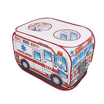 Kreative Kinder Auto Spiel Haus Simulation Polizei Auto FeuerwehrAuto Zelt Faltbares Zelt Indoor