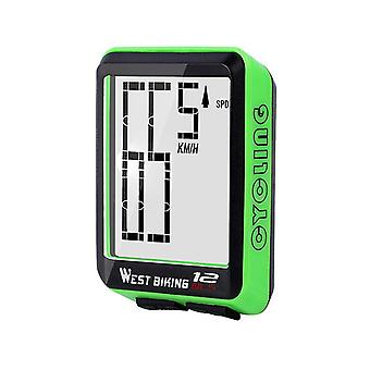 Wireless bike computer bicycle speedometer waterproof lcd stopwatch backlight automatictime wake-up & multi-functions distance