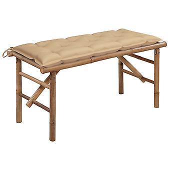vidaXL Foldehavebænk med støtte 118 cm bambus