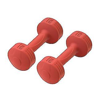 Perusteet Neopreeni pinnoitettu käsipainosarja, treeni fitness-laitteet (punainen)