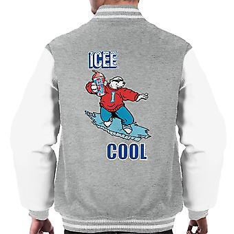 ICEE Cool Polar Bear Men's Varsity Jacket