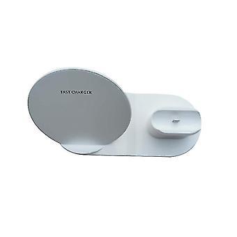 3 1 Qi langaton laturi puhelimen laturi / kellolaturi / kuulokelaturi (valkoinen)
