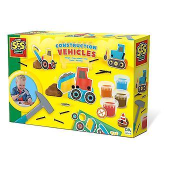 Kinder Modellieren Teig Baufahrzeuge