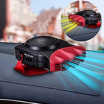 2 In 1 12v 150w Auto Car Heater Portable Heating Fan With Swing-out Handle