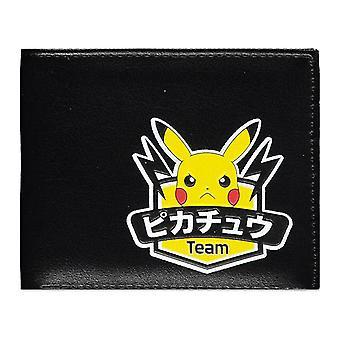 POKEMON Olympics Team Pikachu Bi-fold Wallet - Black