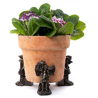 Potty Feet Flower Fairies Daisy Fairy Plant Pot Feet Bronze Color 3pc