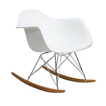 Rocking chair modern white - Retro