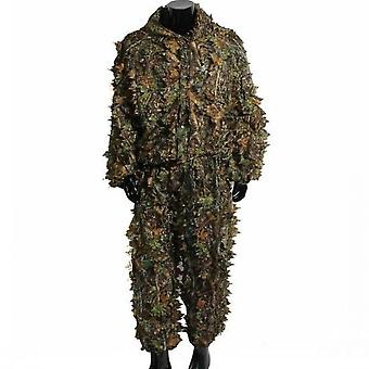 3d Leafy Tactical Ghillie Suit Woodland Camo Camo Camouflage Oblečenie Jungle Hunting