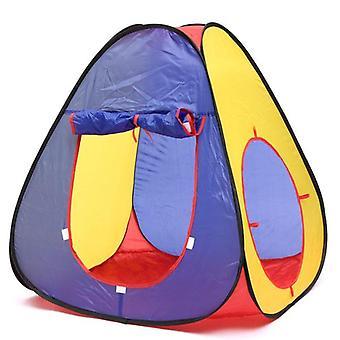 שלושה באחד בחוץ אוהל ילדים זחילה מנהרת צורה מעוקב Playhouse לילדים