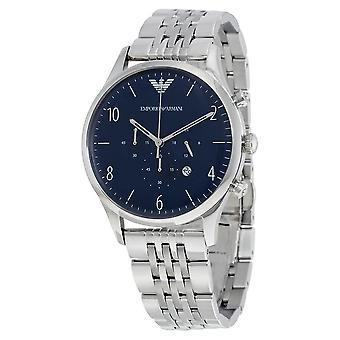 Emporio Armani Kleid Chronograph Blaues Zifferblatt Herrenuhr AR1942