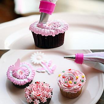 White & Silver Piping Icing Bag Cake Cookie Cupcake Decorating Nozzles Tool Set