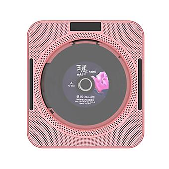 Portable Cd Player Wall Mountable Cd Music Player Bluetooth Remote Control Fm Radio Hifi Speaker With Usb 3.5mm Led Screen