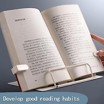 Support de livre de lecture réglable en métal réglable Document Étagère Bibliothèque Tablette Musique
