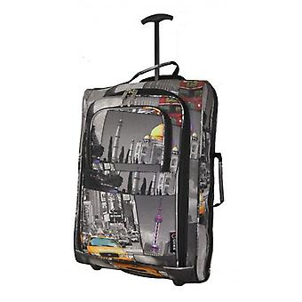 21 Inch 5 Cities Cabin 2 wheeled Trolley Bag Flight Jet Travel Hand Luggage Lightweight