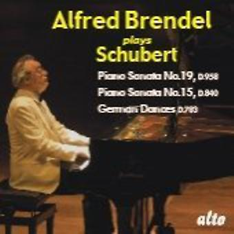 F. Schubert - Schubert: Piano Sonatas Nos. 19 & 15; German Dances [CD] USA import