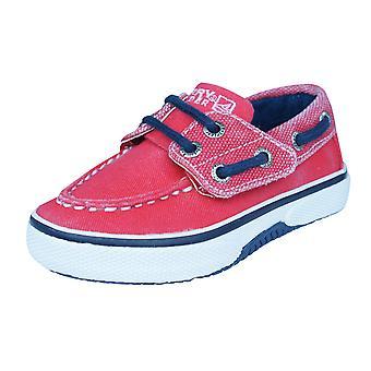 Sperry Halyard Jr Childrens Boys Deck / Boat  Shoes - Red
