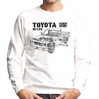 Haynes Workshop manuell Toyota Hei Lux svart menn Sweatshirt