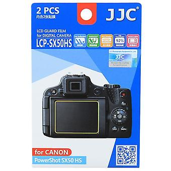 JJC guarda Film Crystal Clear Screen Protector para Canon PowerShot SX50 HS - sem corte (Pack de 2 filme)