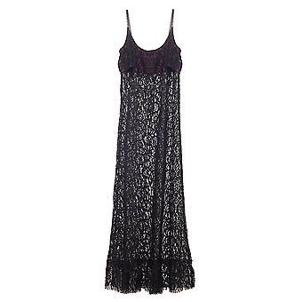 Les Jupons de Tess Kate Black Lace Długa sukienka KAT6001