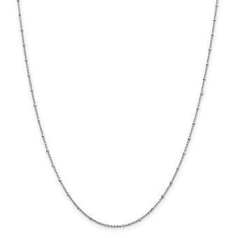 925 Sterling Silver Spring Ring 1.25mm Rolo con caviglia perline - Lunghezza: 9 a 10