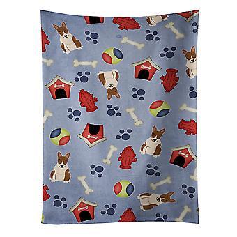 Dog House kolekcja Bull Terrier Ręcznik kuchenny pręgowany