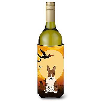 Halloween Bull Terrier Brindle Wine Bottle Beverge Insulator Hugger