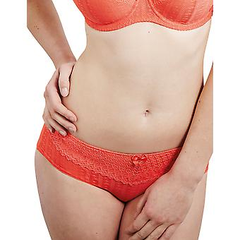 Guy de France 61009-C Women's Iris Coral Lace Brief