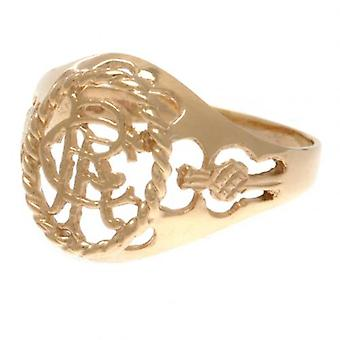 Rangers 9ct Gold Crest Ring Medium