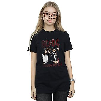 AC/DC Women's Highway To Hell Boyfriend Fit T-Shirt