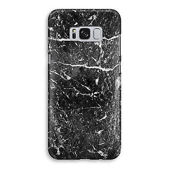 Samsung Galaxy S8 volledige Print geval (Glossy) - zwart marmer