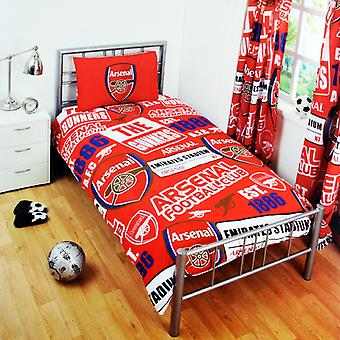 Arsenal FC Childrens/Kids Official Patch Football Crest Duvet Set