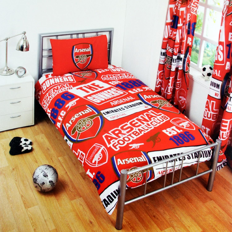 FC Arsenal Childrens/barn offisielle Patch fotball Crest Duvet Sett