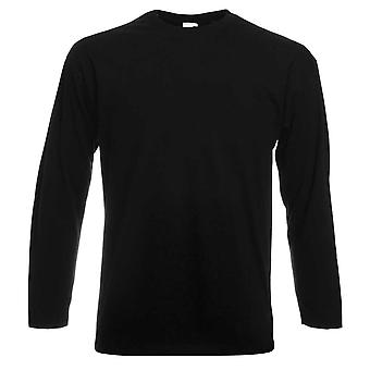 Frukt av vävstol Mens Long Sleeve värde bomull T Shirt