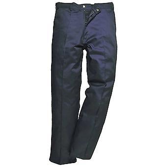 Portwest Mens Preston Workwear Pereira calças pretas da Marinha