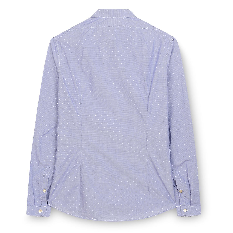 Fabio Giovanni Bussola Shirt - 100 % Baumwolle Herren italienischen lässigen Shirt - Langarm