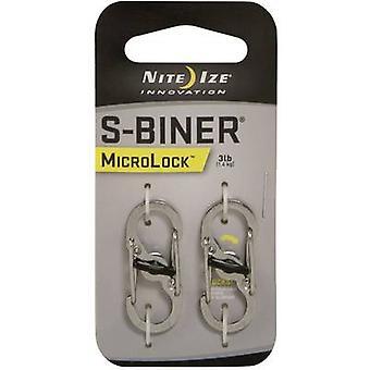 Snap hook NITE Ize MicroLock S-Biner 2 NI-LSBM-11-2R3 2 pc(s)