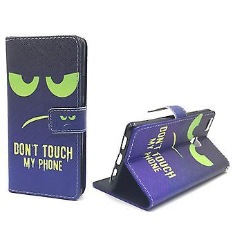Toque meu caso móvel telefone Huawei P9 Lite tanque proteção flap envelope de vidro caso carteira