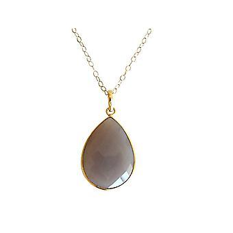 سليكات الألمنيوم الأحجار الكريمة قلادة مطلية بالذهب قلادة سليكات الألمنيوم
