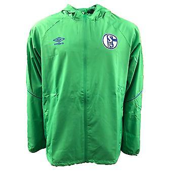 2018-2019 Schalke Umbro dusch Jacket (grön)