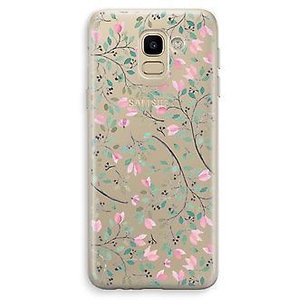 Custodia trasparente Samsung Galaxy J6 (2018) (Soft) - fiori delicati