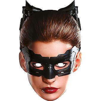 Catwoman card mask mask made of cardboard for adults