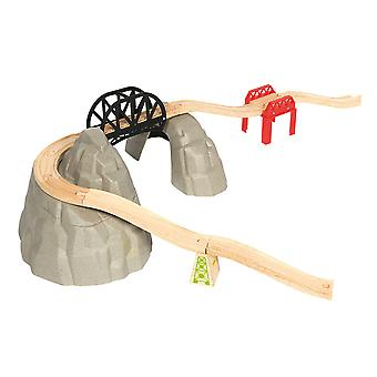 Bigjigs Rail Wooden Rocky Mountain Expansion Track Pack Accessories