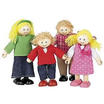 Tidlo Wooden Doll Family Figures Play Set Accessories Mini Figurines