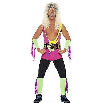 Smiffy's Retro Wrestler Costume With Bodysuit