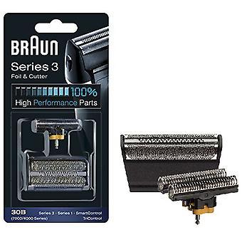 Braun 30 b série 4000 / 7000 Rasierer remplacement aluminium Cassette Cartouche - noir
